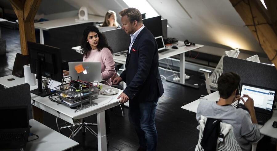 Plandays stifter og direktør Christian Brøndum (i midten). Planday har lige rejst 250 mio. kr. og skal nu fortsætte med at erobre det meste af verden med deres planlægningsplatform.