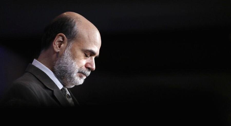 Som direktør for den amerikanske centralbank turde Ben Bernanke ikke fortælle, at Federal Reserve ikke evnede at redde den konkursramte investeringsbank Lehman Brothers i efteråret 2008. Foto: Jason Reed/Scanpix Ritzau