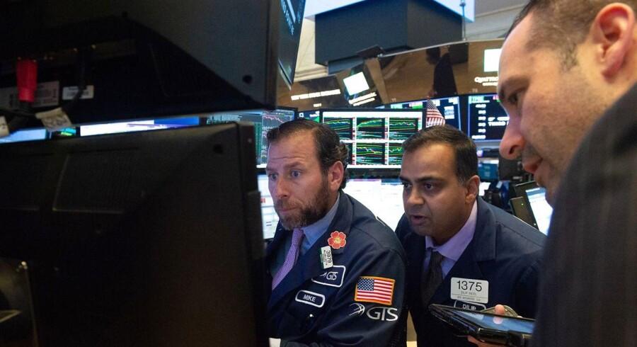 Det amerikanske aktiemarked åbner som ventet ikke med de store udsving. (Arkivfoto: Bryan R. Smith / AFP / Ritzau Scanpix).
