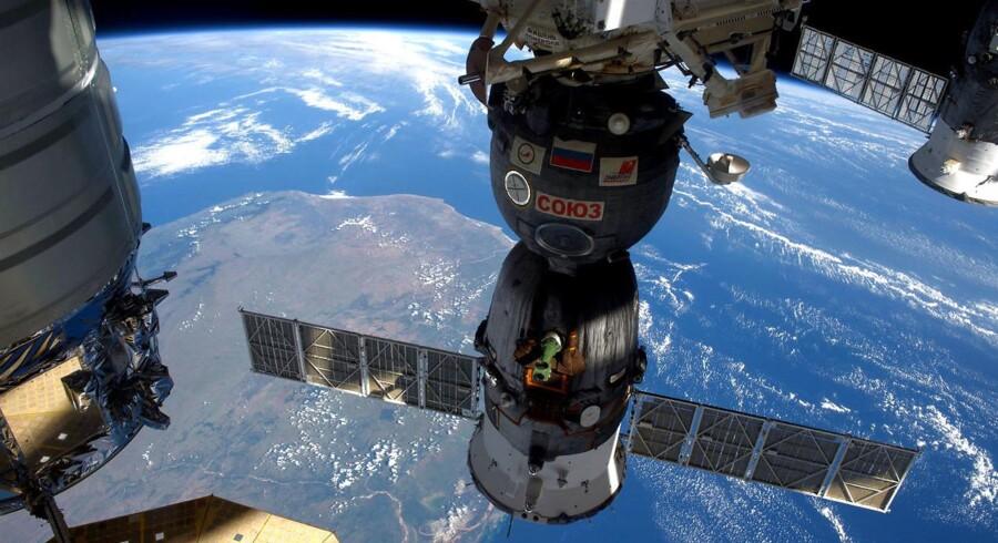 Den Internationale Rumstation over Madagaskar.