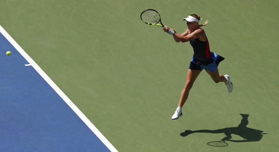 Caroline Wozniacki ved US Open i august 2018.