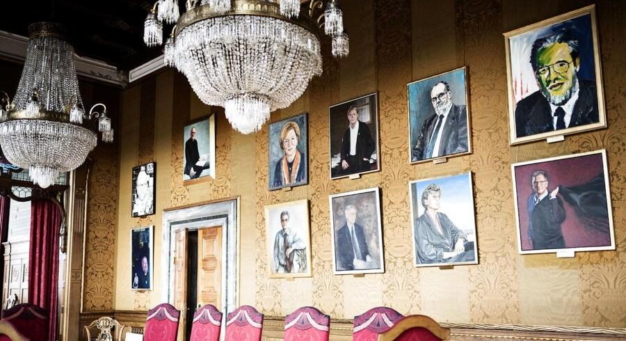 Der hænger i øjeblikket omkring 20 borgmesterportrætter i Magistratsalen på Københavns Rådhus.