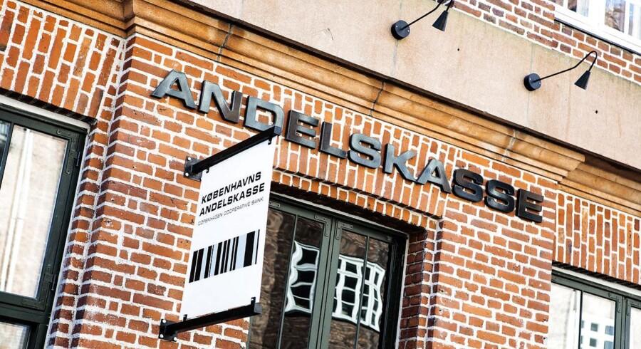 (ARKIV) Københavns Andelskasse. Efter inspektion i Københavns Andelskasse har Finanstilsynet bedt Bagmandspolitiet efterforske banken. Nu afslører Børsen detaljer om, hvorfor tilsynet har taget det drastiske skridt. Foto: Nikolai Linares/Ritzau Scanpix