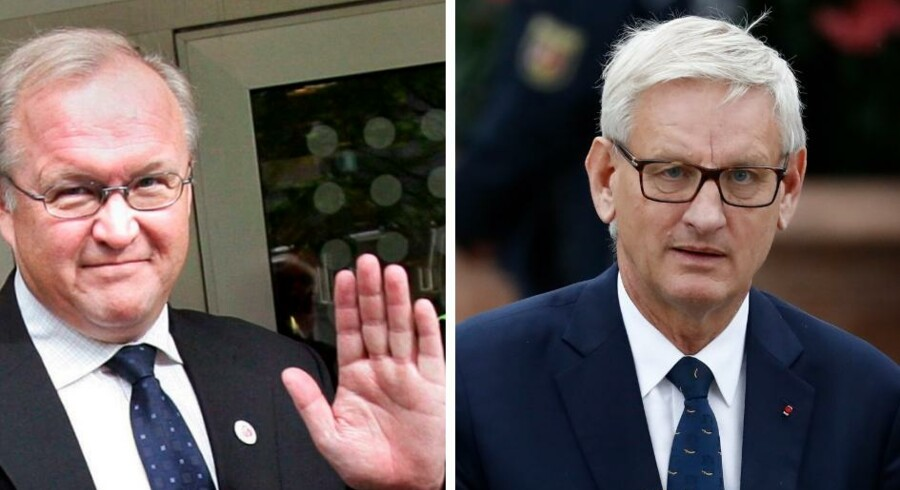 Tidligere statsministre Göran Persson (tv) og Carl Bildt (th).