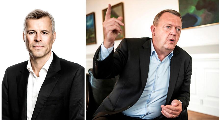 Thomas Larsen og Lars Løkke Rasmussen