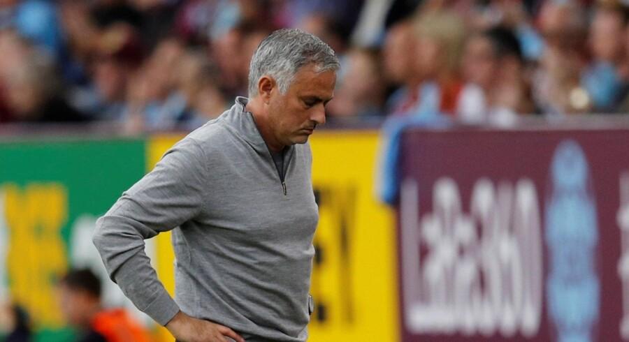 Manchester United-manager José Mourinho har haft udfordringer i forhold til at finde den glade grimasse i denne sæson. Phil Noble/Reuters
