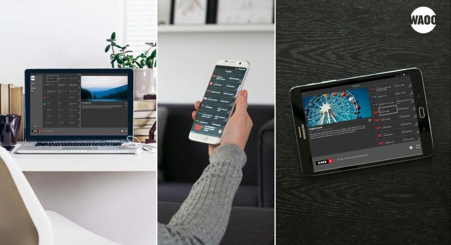 Fra næste uge kan TV-abonnementet købes og køres direkte over internetforbindelsen hos Danmarks tredjestørste TV-leverandør. Foto: Waoo