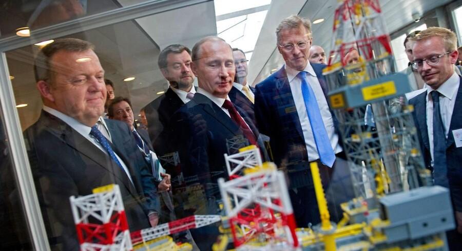 Vladimir Putin på besøg hos A.P. Møller - Mærsk i 2011, da alt endu var godt mellem Rusland og Mærsk.
