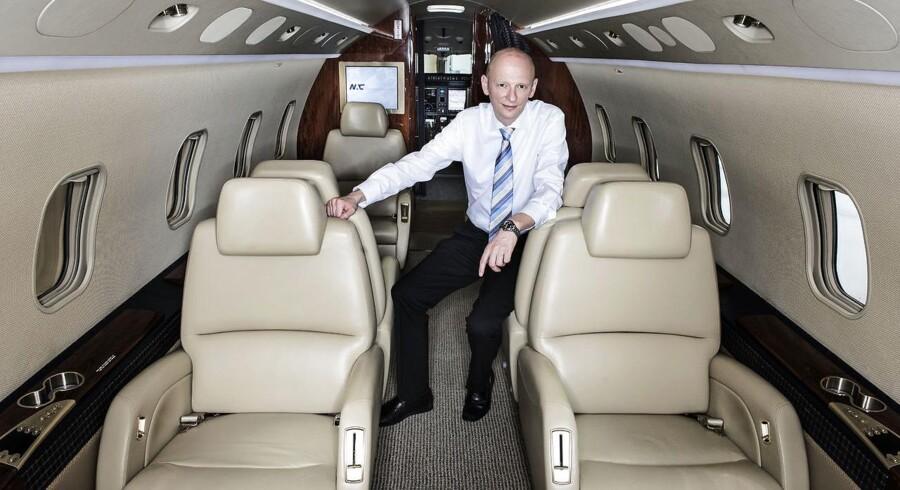 Grundlæggeren Martin Møller for Nordic Aviation Capital har verdens største flåde af mindre regionalfly. Akrivfoto.
