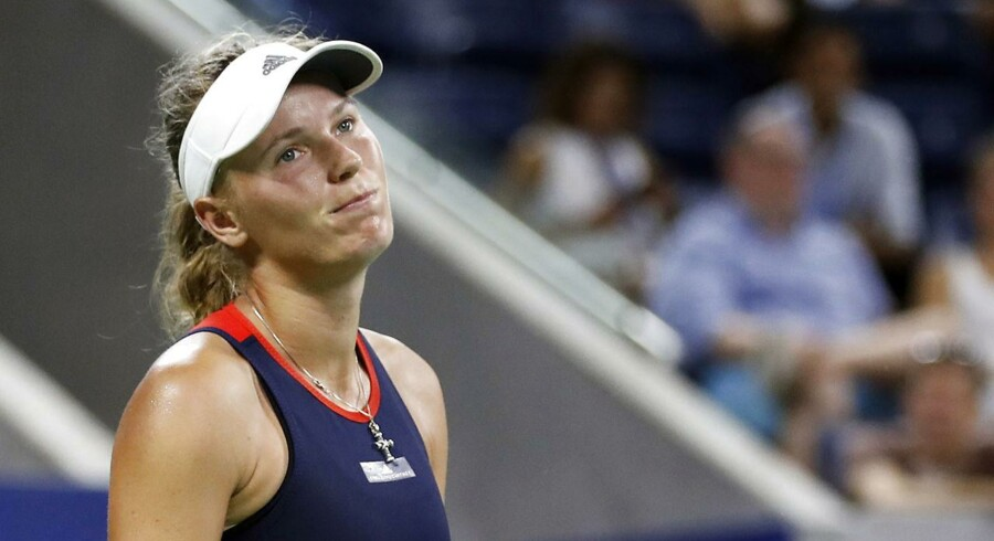Caroline Wozniacki fik aldrig sit spil til at køre og tabte i anden runde i US Open til Lesia Tsurenko.