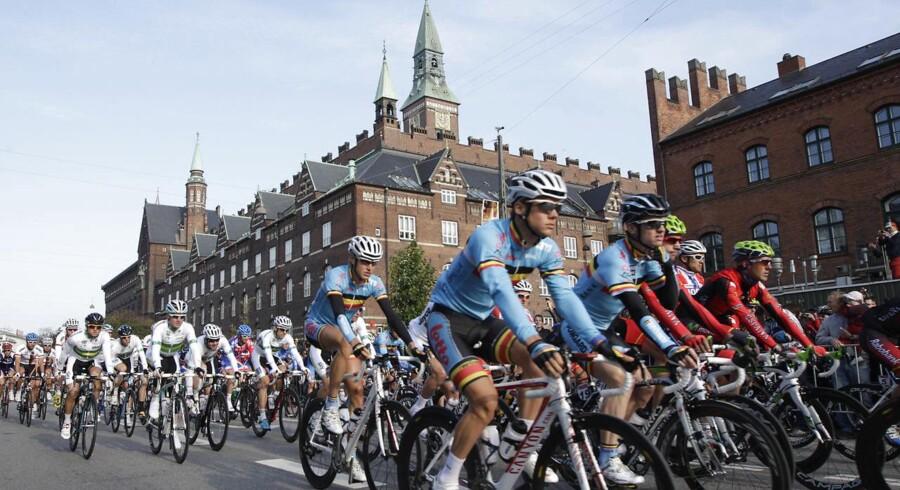 I 2011 gik starten ved VM i landevejscykling i København, og Danmark er tættere end nogensinde på at få Tour de France til byen. Foto: Denis Balibouse/Reuters/Scanpix