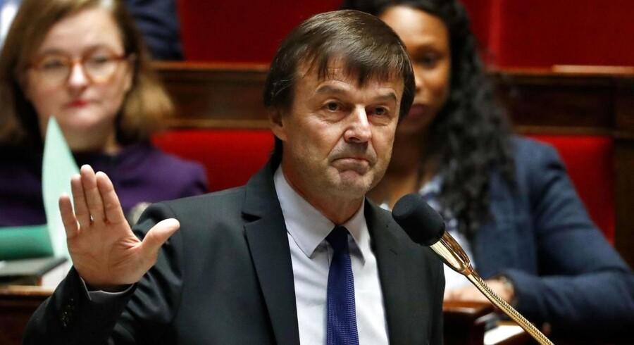 Nicolas Hulot, Macrons miljøminister, fratræder sin stilling i protest mod manglende fremskridt i forhandlinger om klima.