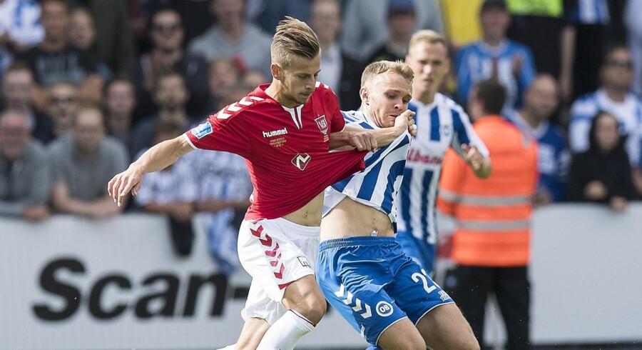 Ylber Ramadani og resten af Vejle-holdet tabte søndag 0-2 på eget græs til OB. Claus Fisker/Ritzau Scanpix