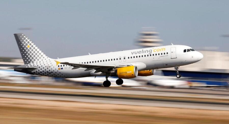 Siden 2014 har Vueling tabt flere end 70 sager, hvor danske kunder har krævet kompensation for aflyste og forsinkede fly. Paul Hanna/Reuters/Ritzau Scanpix.