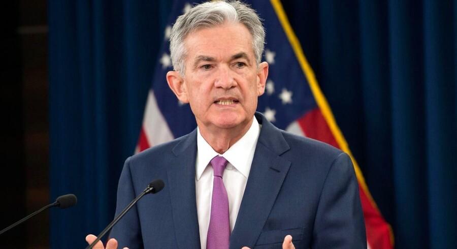 Arkivfoto af Jerome Powell, der er chef for den amerikanske centralbank, Federal Reserve. (Foto: ANDREW CABALLERO-REYNOLDS / AFP / Ritzau Scanpix)