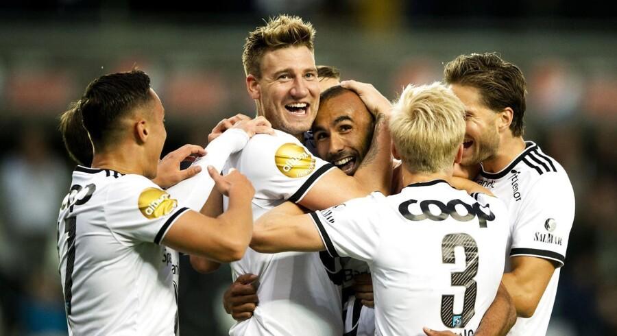 Den danske angriber er ikke tilfreds med Rosenborgs præstation i anden halvleg mod makedonske Shkëndija.