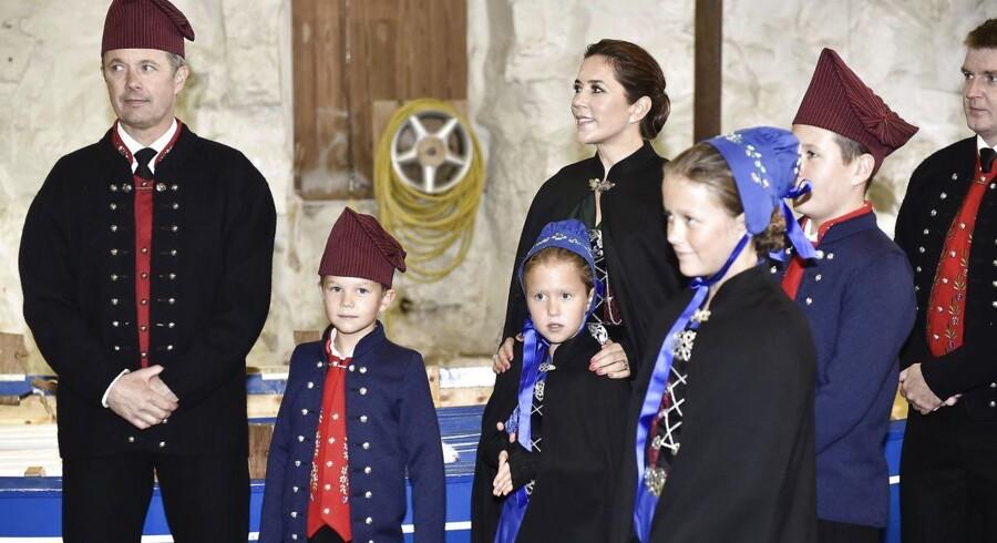 Besøg i roklubben Knørrur. Kronprinsparret aflægger sammen med deres fire børn officielt besøg på Færøerne, torsdag den 23. august 2018. (Foto: Mads Claus Rasmussen/Scanpix 2018)