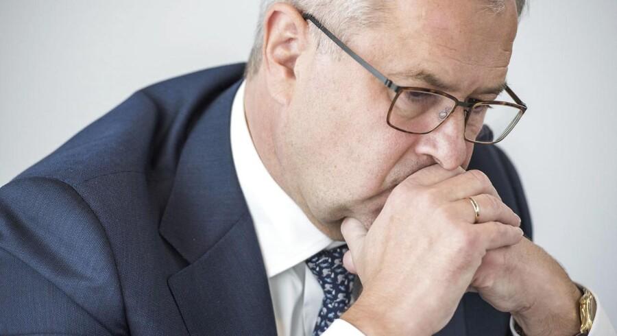 Mærsk CEO Søren Skou til et pressemøde d. 22. september 2016.