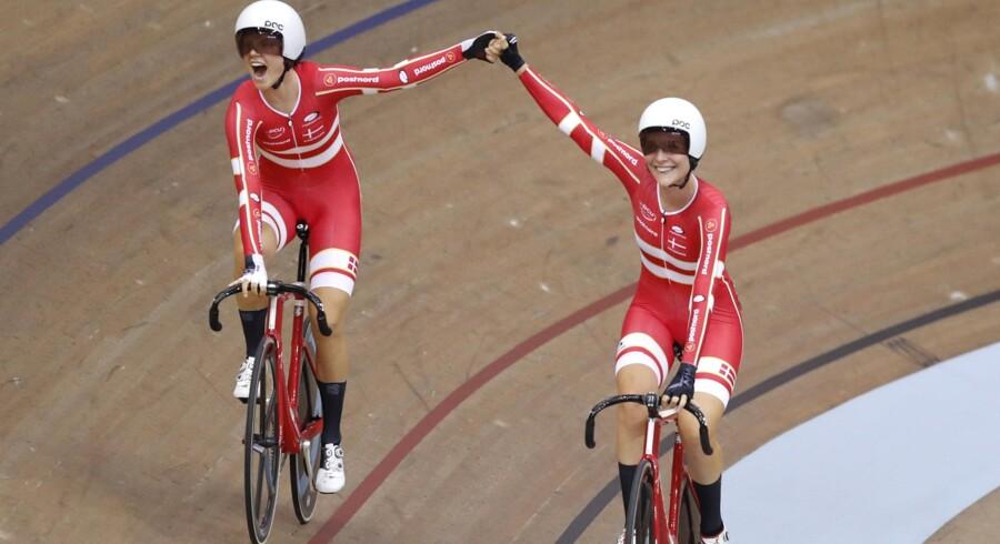 Amalie Dideriksen vandt tidligere i år EM-guld i parløb sammen med Julie Leth. Amalie Dideriksen har forlænget sin kontrakt med hollandske Boels-Dolmanns. Darko Bandic/Ritzau Scanpix