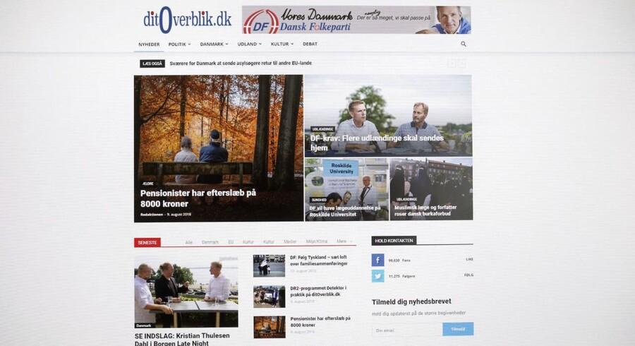 Det ny site »ditoverblik.dk« er et erklæret uafhængigt medie, men finansieret af Dansk Folkeparti, og bliver nu anklaget for at snylte på etablerede mediers uafhængighed. Det udgør et demokratisk problem.