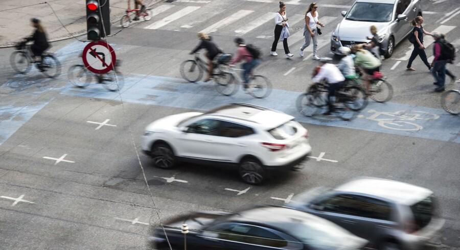 Trafik ved H.C Andersens Boulevard i København.