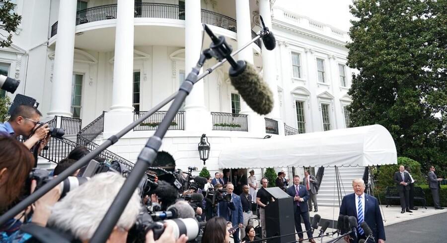 Den amerikanske venstrefløj vil have munden lukket på højreekstremisterne, og 43 procent af republikanerne er klar til at give præsident Trump magt til at lukke medier, der opfører sig dårligt. Men alle bør mindes om, at ytringsfriheden er en hjørnesten i demokratiet. (Foto: MANDEL NGAN/Ritzau Scanpix)