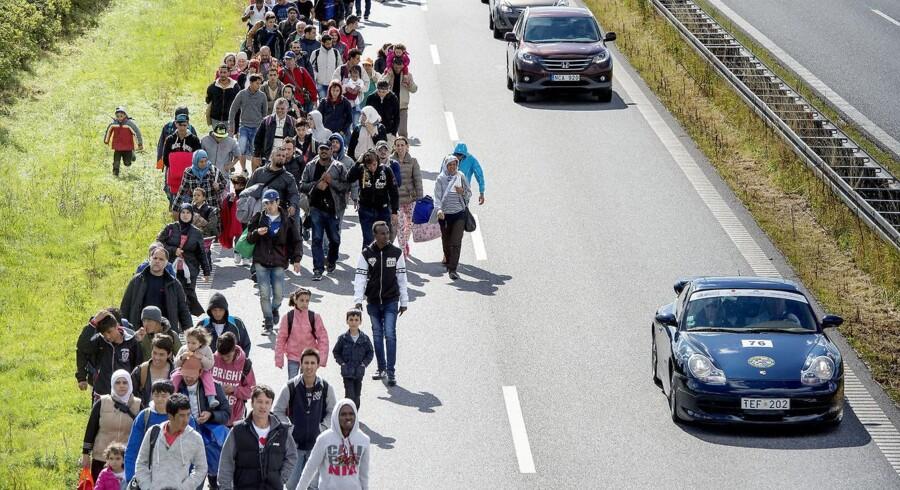 Mandag d. 7. september 2015 indtog knap 200 flygtninge Sydmotorvejen ved Rødby og begyndte den lange vandring mod Sverige.