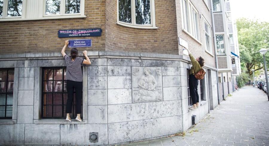 Gruppen har valgt at give i alt 42 forskellige veje i 11 hollandske byer nye navne opkaldt efter kvinder.