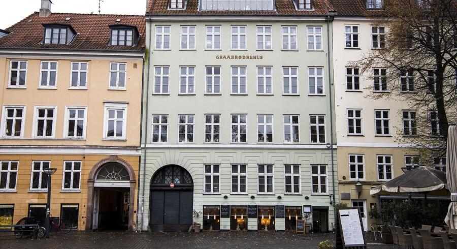 Ejendom på Gråbrødretorv i indre København, hvor der blev spekuleret i lejligheder, alene med det formål at bruge dem til udlejning via Airbnb.