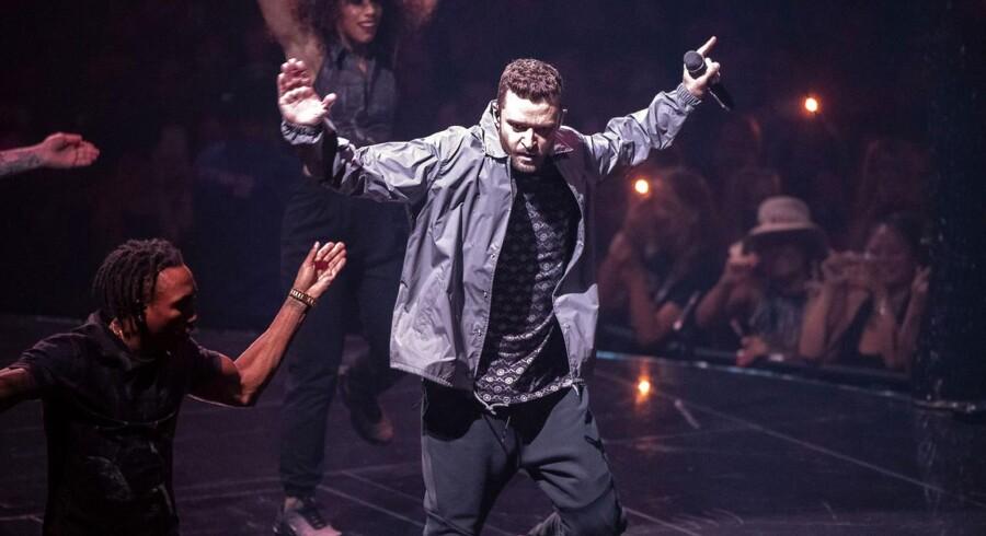 Justin Timberlake i Royal Arena i Købehavn lørdag den 4. august 2018.