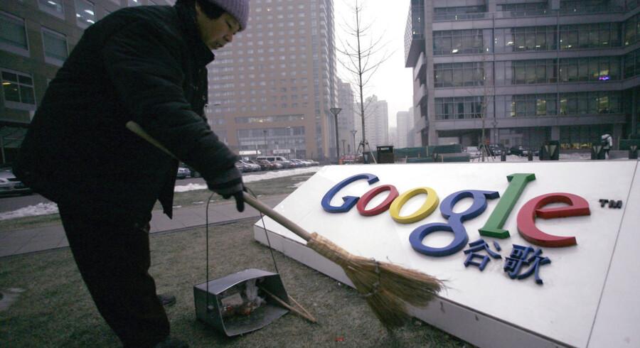 Google udarbejder en app, der skal tilbyde censurede søgeresultater til kinesiske brugere. Det fremgår af lækkede dokumenter fra virksomheden. Billedet er fra Googles tidligere hovedkvarter i Beijing. Det blev lukket i 2010.
