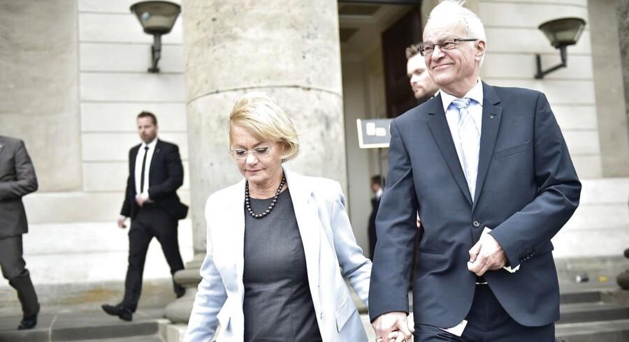 Dansk Folkepartis medlem af Region Hovedstaden, Henrik Thorup, sammen med sin kone, formand for Folketinget Pia Kjærsgaard.