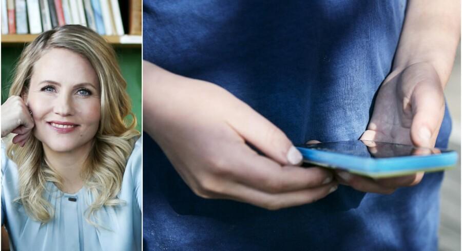 »Vi er stadig temmelig umodne i vores brug af den personlige elektronik,« skriver Christiane Vejlø om ideen om at forbyde mobiltelefoner i den danske folkeskole. Foto: Kasper Palsnov/Ritzau Scanpix