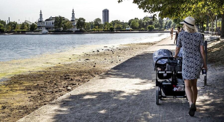 Søerne i København er tørret helt ud.