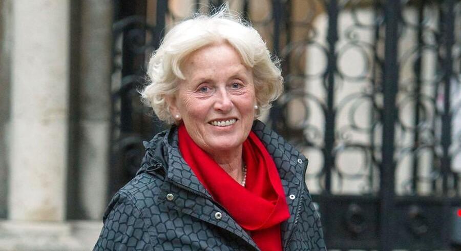 Tini Owens (billedet) er 68 år og vil skilles. Hendes mand Hugh er 80 år og vil ikke skilles. Nu skal hun bevise, at han er urimelig, ellers kan de ikke blive skilt, og dommerne mener ikke, at han er urimelig nok. Foto: PA Wire/Ritzau Scanpix