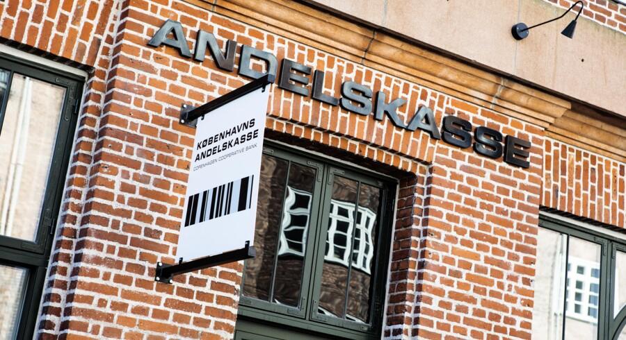 Københavns Andelskasse blev torsdag aften overtaget af statens »skraldespandsselskab« Finansiel Stabilitet. (Foto: Nikolai Linares/Ritzau Scanpix)