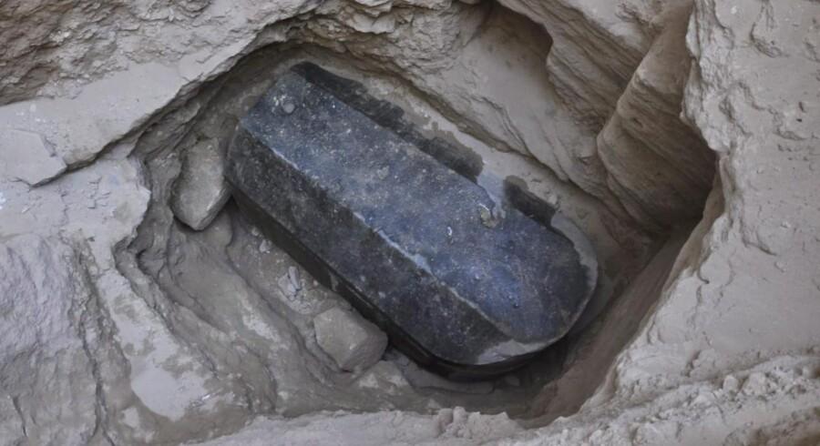 Sarkofagen har været uberørt i over 2000 år.