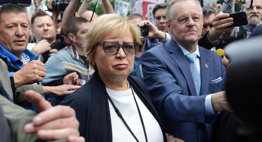 Højesteretspræsident i Polen Malgorzata Gersdorf ved demonstration foran polske højesteret, 4. juli 2018.