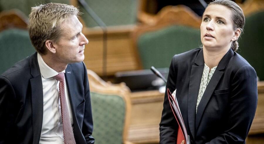 Kristian Thulesen Dahl (DF) og Mette Frederiksen (S).