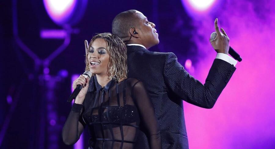 Ægteparret Beyoncé og Jay-Z på den røde løber sammen.