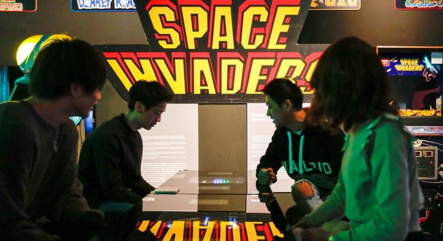 Space Invaders på en udstilling i Japan i 2016 om udviklingen af videospil. Arkivfoto: CHRISTOPHER JUE