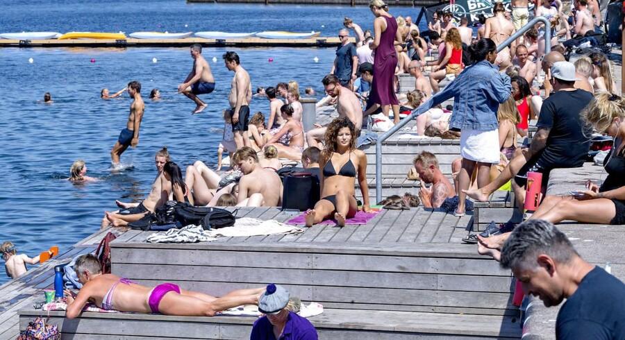 Københavnerne får formentlig grønt lys til at bade mange flere steder i Københavns Havn end ved Islands Brygge i den historisk varme maj.
