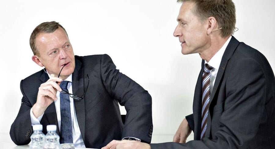 Statsminister Lars Løkke Rasmussen (V) og Kristian Thulesen Dahl (DF).