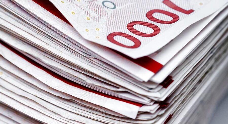 Det her er den ægte vare: masser af gode danske kroner i tusindkronesedler.