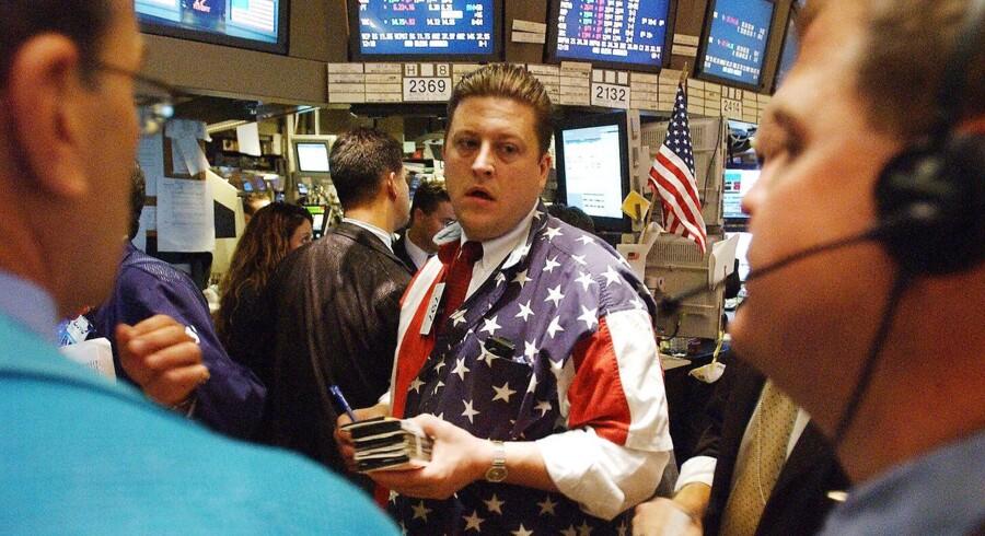 Børshandlere på New York Stock Exchange. Arkivfoto fra 2001.
