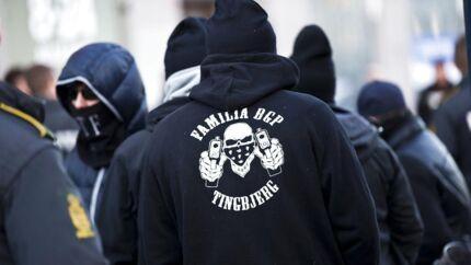 Særligt bandekonflikter var sidste år med til at presse danskernes tryghed i bund, lyder det i politiets seneste tryghedsundersøgelse. Her ses Bandegrupperingen LTF / Loyal To Familia i København den 26. marts 2013. (ARKIV) (Foto: Scanpix/Scanpix 2017)