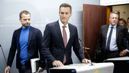 Erhvervsminister Rasmus Jarlov præsenterede onsdag en politisk aftale på hvidvaskområdet.