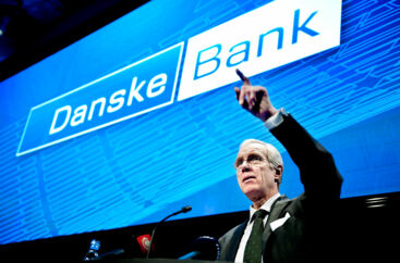 Koncerndirektør i Danske Bank Peter Straarup fremlægger Danske Banks årsregnskab torsdag d. 9. februar 2012 i bankens hovedkvarter. (Foto: Keld Navntoft/Scanpix 2012).