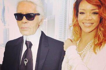 Fredag giver megastjernen Rihanna koncert på Orange Scene under en totalt udsolgt Roskilde Festival.Inden koncerten har Rihanna dog haft en travlt uge, hvor hun har været til modeshow i Paris, til koncert i Berlin og også har haft behov for at mindes sin elskede, afdøde bedstemor.Alt dette dokumenterer sangerinden på det sociale medie Instagram, hvor hun er en flittig bruger og flere gange om dagen deler billeder.Her poserer hun medden ikoniske modedirektør Karl Lagerfeld til afsløringen af en Chanel-kollektion i Paris.Klik videre og se de spændende billeder