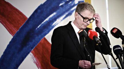 Klaus Riskær Pedersen holdt tirsdag pressemøde i Vartov i København om sine politiske visioner.